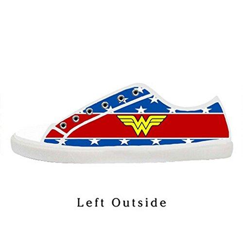 Custom Women Wonder Woman Canvas Shoes Comfortable Sneakers US8