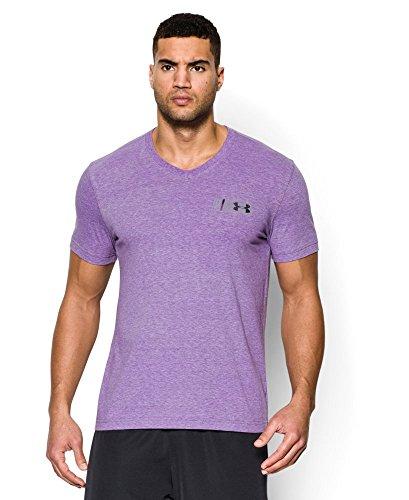 Under Armour Men's UA Graphic V-Neck T-Shirt Large GALAXY PURPLE