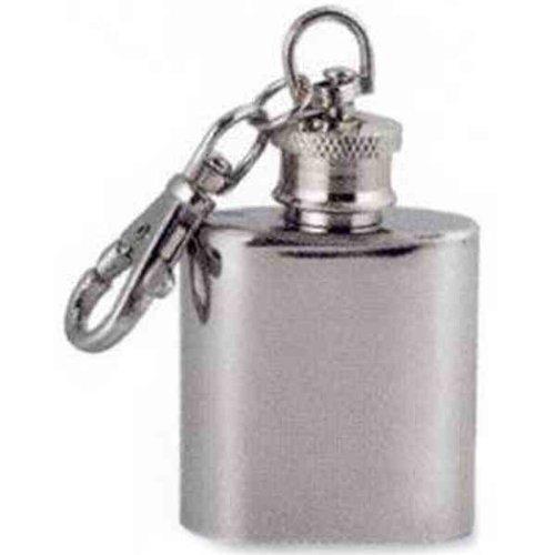 Elegance Silver I Ounce Stainless Steel Key Chain Flask by Elegance Silver [並行輸入品] B0192DLG44