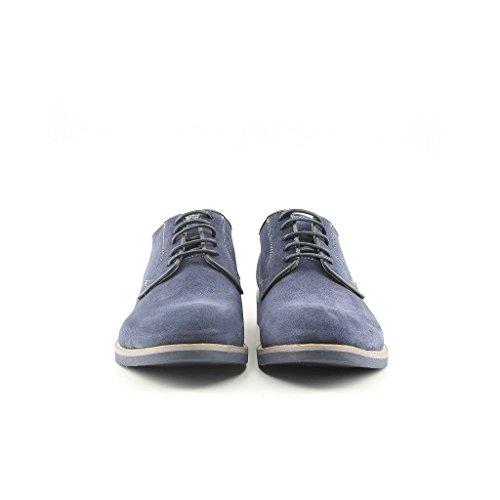 100 Bleu À Cuir Italia In Derby Lacets Homme Made Véritable Giuliano Chaussures Ville De WRq6WOv0w