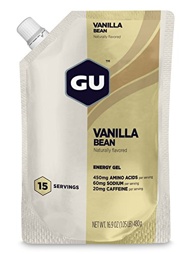 GU Energy Labs Original Sports Nutrition Energy Gel, Vanilla Bean, 1 Count