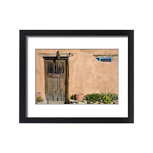 Framed 20x16 Print of NM, New Mexico, Santa Fe, Canyon Road, Legendary for its Many Art Galleries (11161791) from Media Storehouse