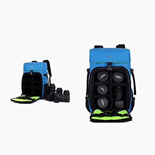 Gear Photography Multi DSLR Bag Waterproof SLR Professional Anti Inner function with Travel Backpack Camera Nylon Padding Gadget theft ZXJ days Rucksack blue pO7qO