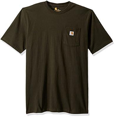 Carhartt Men's Big K87 Workwear Short Sleeve T-Shirt (Regular and Big & Tall Sizes), peat, 3X-Large Tall