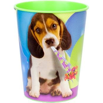 Puppy Party Plastic Party Cup (each)