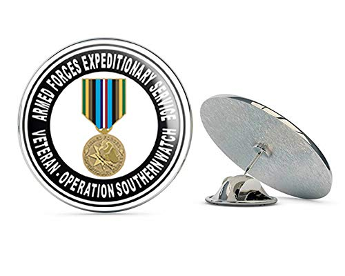 "US Air Force Armed Forces Expeditionary Medal Operation Southern Watch Military Veteran USA Pride Served Gift Metal 0.75"" Lapel Hat Pin Tie Tack Pinback from Veteran Pins"