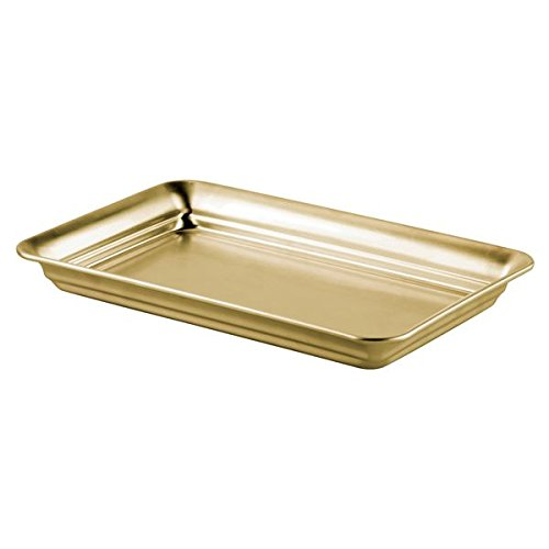 InterDesign Guest Towel Holder Tray for Bathroom - Soft Brass by InterDesign