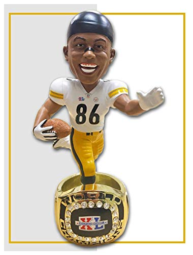Hines Ward (Pittsburgh Steelers) Super Bowl XL Championship Ring Base NFL Bobblehead Exclusive #750