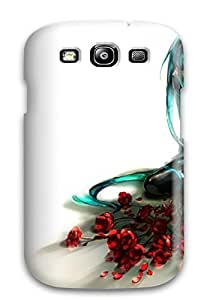 LeeJUngHyun Fashion Protective Vocaloid Flowers Hatsune Mikulonely Flower Petals Roses Detached Sleeves Case Cover For Galaxy S3