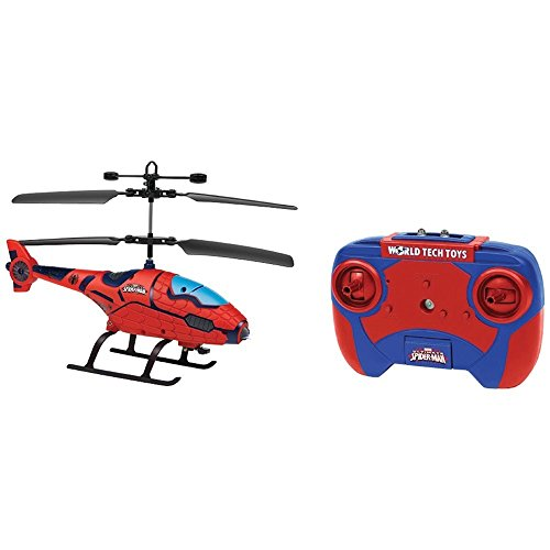 2 Channel Helicopter (WTT34896 - Marvel 34896 2-Channel Marvel(R) Shaped IR Helicopter with LED Lights (Ultimate Spider-Man(TM)))