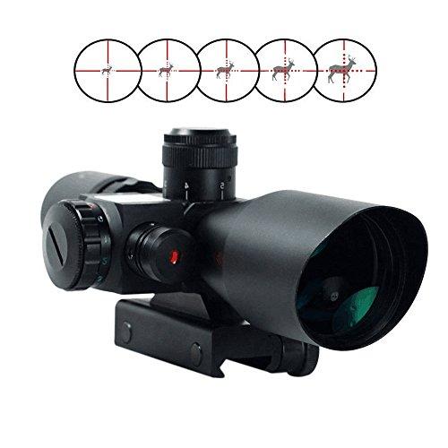 Freehawk¨ 2.5-10x40 Tactical/Optics Accessories/ Rifle Scope/Gun Scope/Gun sights Red & Green Laser Dual Illuminated