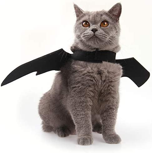 Nigua Pet Cat Bat Wings for Halloween, Cosplay Bat Wing Costume Decoration for Puppy Dog Cat 21