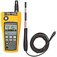 Fluke 975VP One-Touch Air Flow and Velocity Probe, 3000 fpm Velocity, For Fluke 975 AirMeter