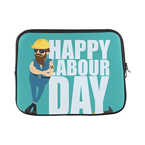 Helmet Inscription - Design Custom Worker Man Yellow Construction Helmet Inscription Sleeve Soft Laptop Case Bag Pouch Skin for Air 11