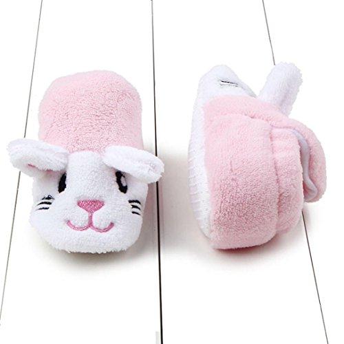 Baby Mädchen / Jungen Lauflernschuhe-Omiky® 0-8 Month Mädchen / Jungen Baumwolle Winter Baby Girl boys Kinder Schuhe Warme Schuhe Rosa