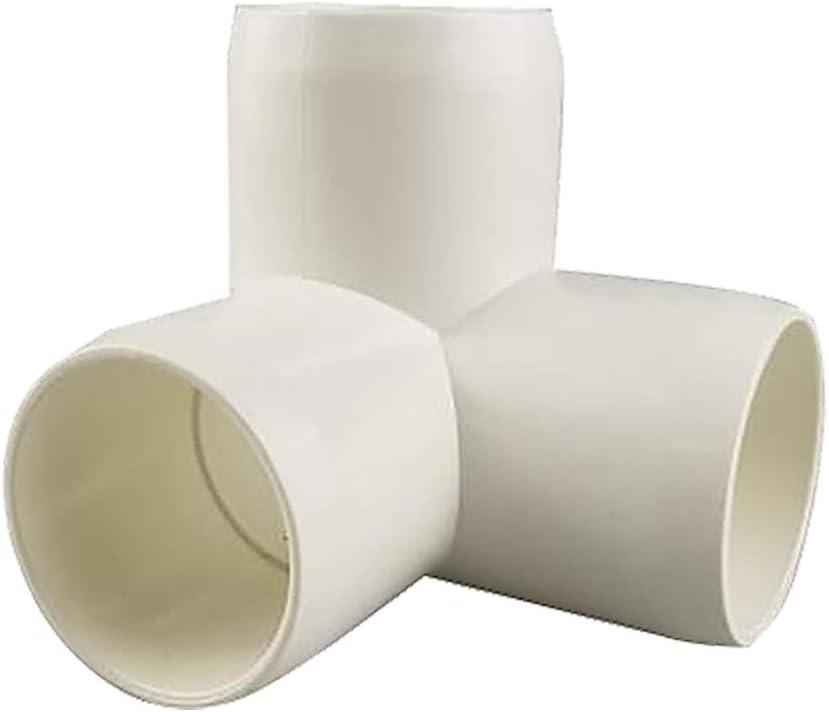TONGXU 10PCS Conectores de PVC de 1//2 Pulgada de 3 V/ías para Invierno Resistentes Accesorios de Codo de Montaje para Muebles Tuber/ía DIY Bricolaje Color Blanco