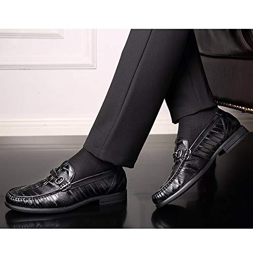Extérieur Conduite Mocassins De D'hiver Black Intérieur Avancés Chaussures Antidérapants Hommes ZP4pg