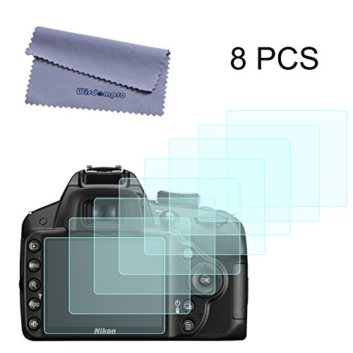 Wisdompro Screen Protector, 8 Pack Clear Screen Protectors for Nikon D3100 D3200 D3300 D7100 Digital Camera - Anti-Scratch LCD Screen Protector Guard