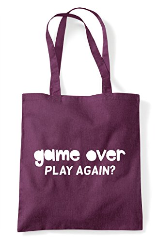 Over Bag Play Plum Tote Gaming Game Statement Shopper Gamer Again HdpnW04