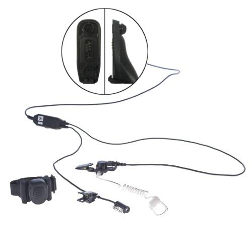 Impact M11-P3W-AT1-WPTT Undercover Covert 3-Wire + Wireless PTT Earpiece and Mic for Motorola APX and XPR Series Two Way Radios