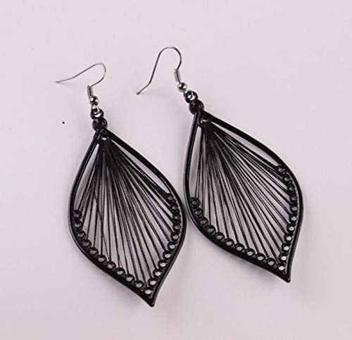 Toponly Temperament Exaggerated Earrings Fashion Sleek Trend Silver Matte Bohemian Geometric Pendant Stud by Toponly (Image #4)