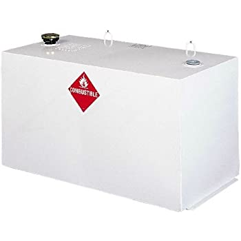 Delta 484000 White Steel Rectangular Transfer Tank Truck Box - 96 Gallon Capacity