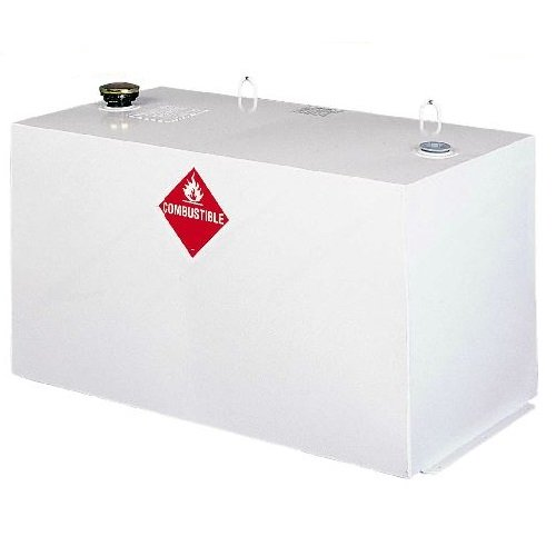 - Delta 484000 96 Gallon Capacity White Steel Rectangular Transfer Tank Truck Box