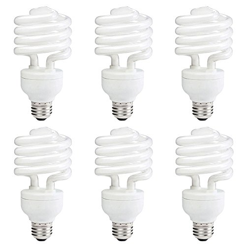 Philips 414052 100 Watt Equivalent Compact Fluorescent Twister Light Bulb, Neutral White, 6 Pack