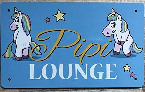 Clever-Kauf-24 Alu T/ürschild WC BxH 25x20 cm Einhorn PIPI Lounge Dekoschild hellblau