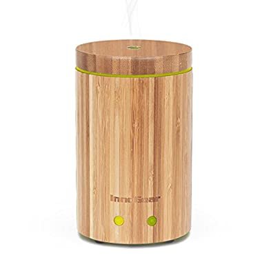 InnoGear Real Bamboo Essential Oil Diffuser with Waterless Auto Shut-off