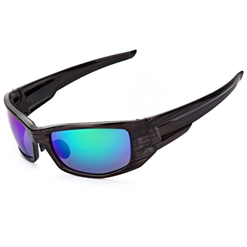 Shieldo Polarized Sports Sunglasses For Men And Women Fashion Driving Fishing Mountain Motorcycle, Mirrored Integrated Polarized Lens Unbreakable Frame SDH002 - Brand Jim A Good Maui Is