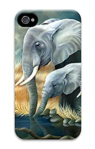 iPhone 4S Case Elephant Pattern Hard Back Skin Case Cover For Apple iPhone 4 4G 4S Cases