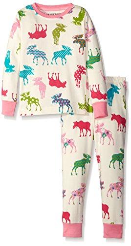Little Blue House By Hatley Little Girls Pajama Set-Patterned Moose,Patterned Moose,2