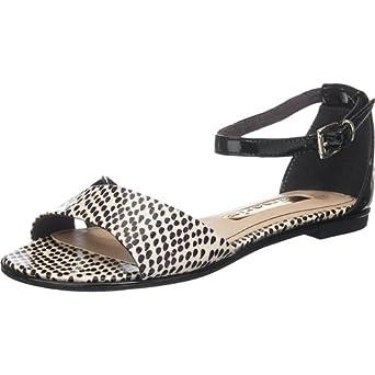Tamaris Marken Sandalette, schwarz weiß in Größe 40