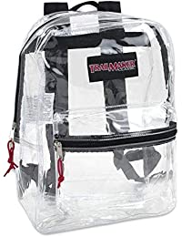 Clear Backpack With Reinforced Straps & Front Accessory Pocket - Perfect for School, Security, Sporting Events