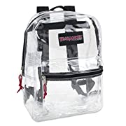 Clear Backpack With Reinforced Straps & Front Accessory Pocket – Perfect for School, Security, & Sporting Events