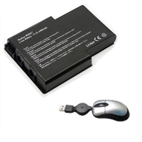 Amsahr Replacement Battery for Gateway M305V7, M405, M305CRV, 4UR18650F-2-QC-OA5L, 6500791 - Includes Mini Optical Mouse ()