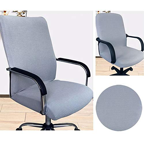 Office Chair Case Computer Office Chair Case Stretchable Resilient Chair Case Stripe Jacquard Universal Chair Case for Office Rotating Chair Armrest Chair