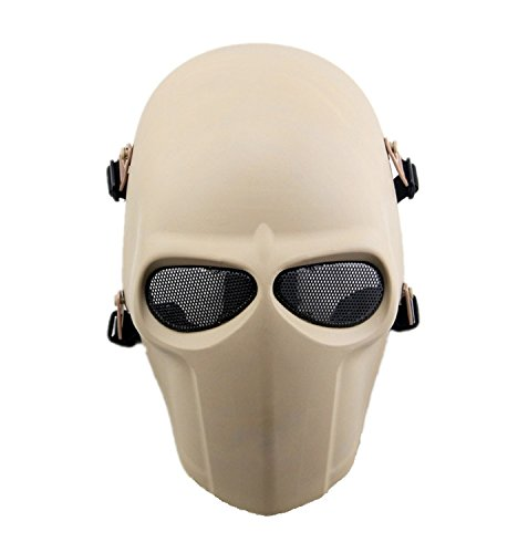 haoYK Tactical Airsoft Masque tactique pour paintball, hockey, cosplay, BB, masque de protection pour Halloween, fête masquée Green
