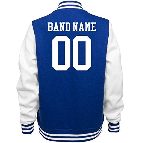 Customized Girl Marching Band Bomber Jacket: Ladies Fleece Letterman Varsity Jacket for $<!--$53.97-->