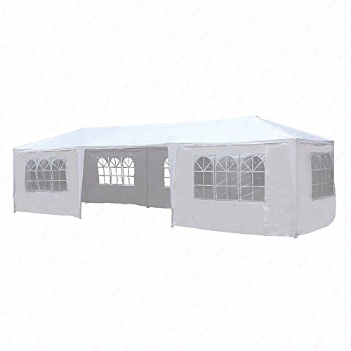 10'x30' White Outdoor Gazebo Canopy Party Wedding Tent 7 Sidewalls Removable Walls by yis-henson