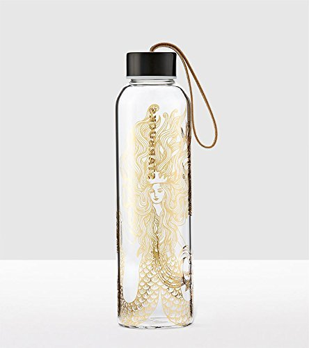 Starbucks Gold Siren Glass Water Bottle