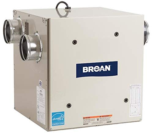 Broan HRV80S 77 CFM Heat Recovery Ventilator with Side Ports, N/A