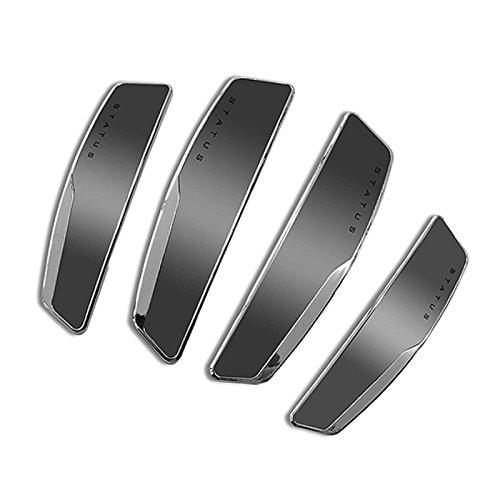 Slim Door (STATUS 4Pcs High Glossy Slim Door Edge Guards Bumper Protector Trim Guard Sticker Molding for Motors Auto Vehicle (Metallic Silver))
