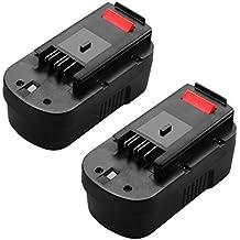 ANTRobut 2 Pack 3.0Ah Black & Decker 18V Replacement Battery for HPB18 HPB18-OPE 244760-00 A1718 FS18FL FSB18 Firestorm Black and Decker 18 Volt Battery
