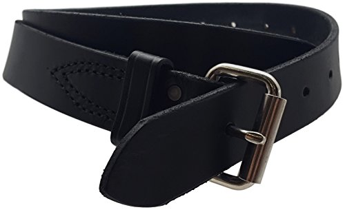 Essential Heavy Duty Concealed Carry Belt – 1.5 Inch Wide – Full Grain One Piece Leather Construction – Handmade (Black, 36)