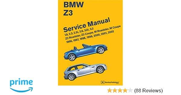 bmw z3 service manual 1996 1997 1998 1999 2000 2001 2002 rh amazon com bentley bmw z3 service manual bentley bmw z3 service manual