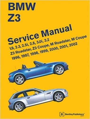 bmw z3 service manual 1996 1997 1998 1999 2000 2001 2002 bentley publishers 9780837616179 amazoncom books bmw z3 19 2 1996