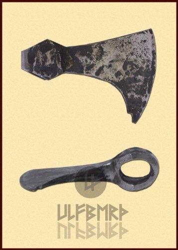Ascia barbuta Lama asciaa con Tetto del casco, combattimento-capace