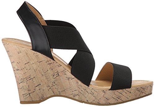 CL by Chinese Laundry Womens Ivorine Wedge Pump Sandal Black Gore DlV1idgCbx